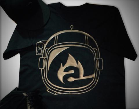 burning astronaut logo/t-shirt