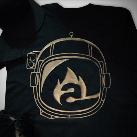 burning astronaut logo/t-shirt